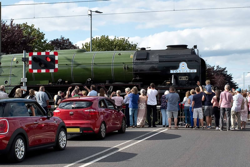 Walton Pier Express at Frinton Crossing